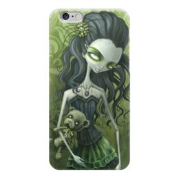"Чехол для iPhone 6 ""Девушка с медведем (зомби)"" - девушка, хэллоуин, zombie, зомби, мертвец"