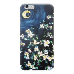 "Чехол для iPhone 6 ""Лунный свет"" - ночь, красота, луна, цветочки, жасмин"