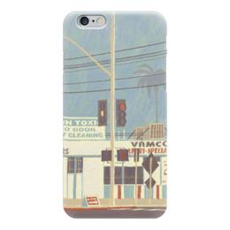 """Чехол для iPhone 6 глянцевый """"Город"""" - рисунок, город, иллюстрация, улицы, улица"""