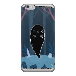 """Чехол для iPhone 6 глянцевый """"Приведение 66"""" - приведение, лес, ужасы"""