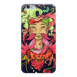 "Чехол для iPhone 6 ""Девушка из фантазий"" - девушка, ярко, краски, фантазия"