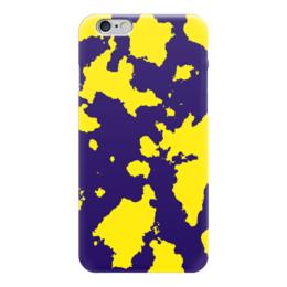"""Чехол для iPhone 6 """"Жёлто-Синий Камуфляж"""" - армия, камуфляж, camouflage, военный, жёлто синий камуфляж"""