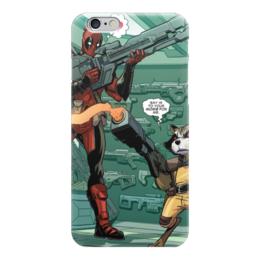 "Чехол для iPhone 6 ""Дэдпул (Deadpool)"" - комиксы, марвел, ракета, дэдпул, rocket racoon"