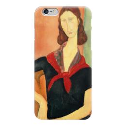 """Чехол для iPhone 6 """"Молодая женщина (с шелковым шейным платком)"""" - картина, модильяни"""