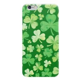"""Чехол для iPhone 6 """"День святого Патрика"""" - клевер, текстура, день святого патрика"""