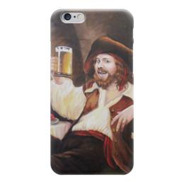 """Чехол для iPhone 6 """"с кружкой пива"""" - пиво, веселье, пират, фолк, тост"""
