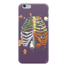 """Чехол для iPhone 6 """"Времена года - Halloween"""" - праздник мёртвых"""