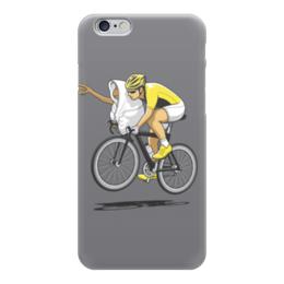"""Чехол для iPhone 6 """"Привидение """" - юмор, велосипедист"""