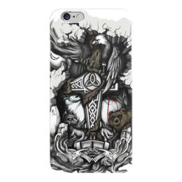 """Чехол для iPhone 6 глянцевый """"Великий Один"""" - бог, история, один, путь воина, север"""