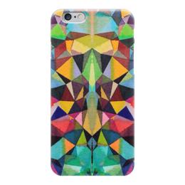"""Чехол для iPhone 6 """"Витражи собора"""" - салатовый, бордовый, черный, желтый, синий"""