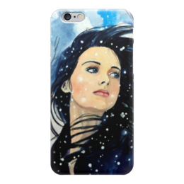 "Чехол для iPhone 6 ""Девушка"" - girl, снег"