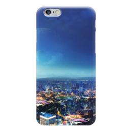 """Чехол для iPhone 6 глянцевый """"Ночной город"""" - города, страны, ночной город, ночь, луна"""
