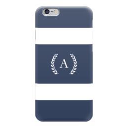 "Чехол для iPhone 6 глянцевый ""Монограмма"" - монограмма, имя, персональный"