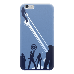 """Чехол для iPhone 6 глянцевый """"Без названия"""" - мстители, халк, капитан америка, тор, железный человек"""