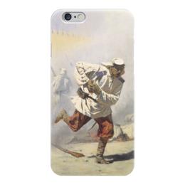 """Чехол для iPhone 6 """"Смертельно раненный"""" - картина, верещагин"""