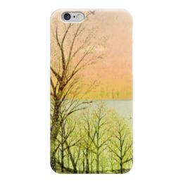 """Чехол для iPhone 6 глянцевый """"Природа"""" - настроение, деревья, небо, природа, закат"""
