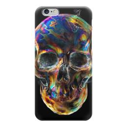 "Чехол для iPhone 6 ""Colorfull skull"" - skull, череп, краска"