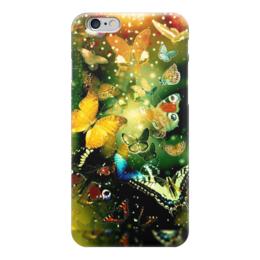 "Чехол для iPhone 6 глянцевый ""бабочки"" - бабочки, красота, природа"