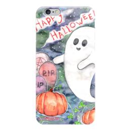 """Чехол для iPhone 6 """"Happy Halloween"""" - праздник, тыква, день всех святых, хеллоувин, приведенье"""