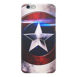 """Чехол для iPhone 6 """"Капитан Америка (Captain America)"""" - мстители, avengers, капитан америка, captain america, щит"""