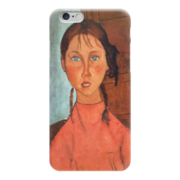 "Чехол для iPhone 6 ""Девочка с косичками (Амедео Модильяни)"" - картина, модильяни"