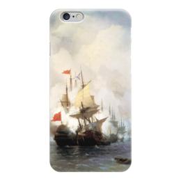 """Чехол для iPhone 6 """"Бой в Хиосском проливе"""" - картина, айвазовский"""