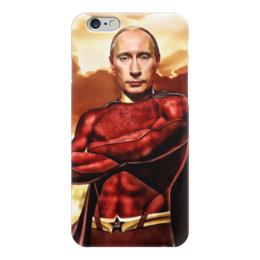 """Чехол для iPhone 6 """"Путин Суперчеловек"""" - путин, putin, суперчеловек"""