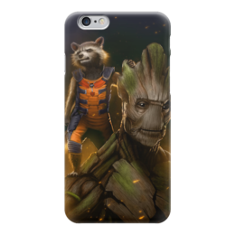 "Чехол для iPhone 6 ""Ракета и Грут"" - комиксы, марвел, стражи галактики, rocket raccoon, groot"