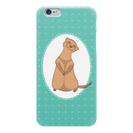 """Чехол для iPhone 6 глянцевый """"Милый хорек"""" - арт, хорек, животное, мультяшный, ferret"""