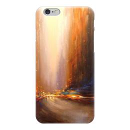 """Чехол для iPhone 6 """"Мегаполис"""" - город, ночь, абстракция, свет, машины"""