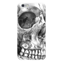 """Чехол для iPhone 6 глянцевый """"Череп человека"""" - череп, картина, рисунок"""