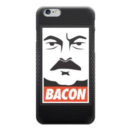 "Чехол для iPhone 6 ""Ron Swanson (Bacon)"" - рон суонсон, ron swanson, парки и зоны отдыха, рон свонсон, bacon"