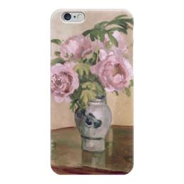 """Чехол для iPhone 6 """"Розовые пионы"""" - картина, писсарро"""