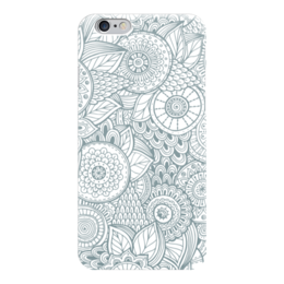 """Чехол для iPhone 6 """"Джунгли"""" - цветы, растения, джунгли"""