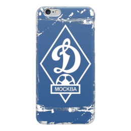 "Чехол для iPhone 6 глянцевый ""Dinamo Moscow"" - динамо, динамо москва, dynamo"