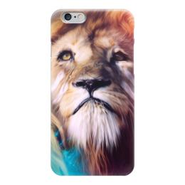 """Чехол для iPhone 6 """"Царь зверей"""" - лев, краски, царь зверей, грива"""