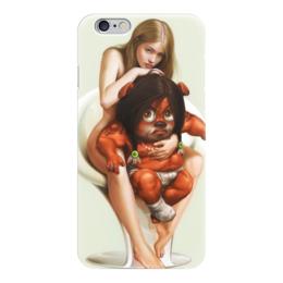 """Чехол для iPhone 6 глянцевый """"Fantasy girl"""" - girl, monster, девушка, монстр, фантастика"""