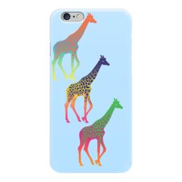 """Чехол для iPhone 6 """"Три жирафа """" - сафари"""