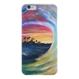 "Чехол для iPhone 6 глянцевый ""Гавайи"" - волна, океан, пальмы, серф, surfing, wave"