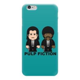 """Чехол для iPhone 6 глянцевый """"Pulp Fiction"""" - культовое кино, тарантино, джон траволта, сэмюэл лерой джексон, криминальное чтиво"""