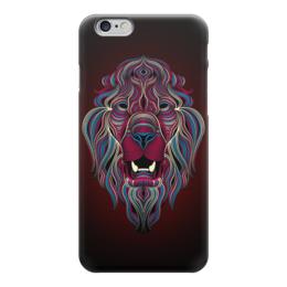 """Чехол для iPhone 6 глянцевый """"Звери, арт дизайн"""" - lion, лев, звери, арт дизайн, арт"""