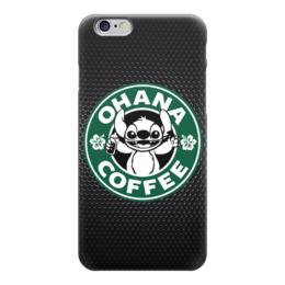 "Чехол для iPhone 6 ""Лило и Стич Кофе"" - кофе, coffee, лило и стич, ohana"