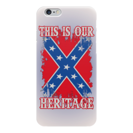 "Чехол для iPhone 6 ""Флаг Конфедерации США"" - война, америка, флаг, сша, флаг конфедерации"