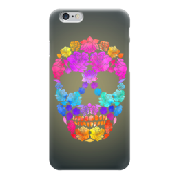 "Чехол для iPhone 6 ""Skull Art"" - skull, череп, цветы, черепа, skulls"
