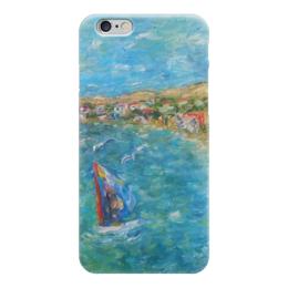 """Чехол для iPhone 6 """"Азовский бриз"""" - море, домик, казантип, берег, парус, серфинг, болгария, крым, windsurfing"""