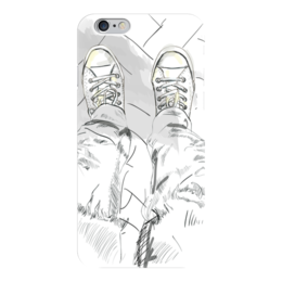 "Чехол для iPhone 6 глянцевый ""Спорт шузы"" - спорт, мода, графика, скетч, кеды"