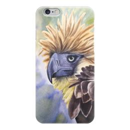 """Чехол для iPhone 6 """"Филиппинский орел """" - животные, птица, орел, иллюстрация, перья"""