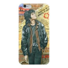 """Чехол для iPhone 6 глянцевый """"Виктор цой"""" - группа кино, рок, кино, виктор цой"""