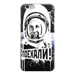 """Чехол для iPhone 6 глянцевый """"Юрий Гагарин (1)"""" - космос, космонавт"""