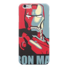 """Чехол для iPhone 6 глянцевый """"IRON MAN"""" - железный человек, iron man, фэн-арт, мстители, avengers"""